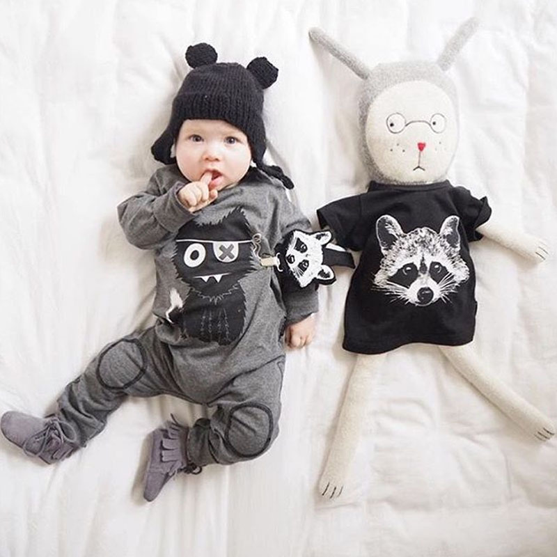 Baby Girls Boys Clothing New Little Monster Baby Clothes Cartoon 100% Cotton Long Sleeve Infant de bebe costumes baby Rompers newborn baby rompers baby clothing 100% cotton infant jumpsuit ropa bebe long sleeve girl boys rompers costumes baby romper