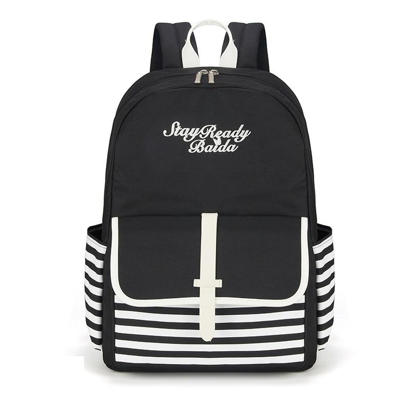 Baida Fashion School Backpacks Teenage Girls Canvas Women Back Pack Backpack Travel Bags Mochilas Escolares Para Adolescentes