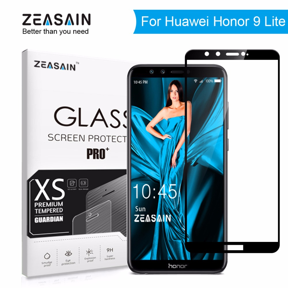 Original ZEASAIN 9H Full Cover Tempered Glass for Huawei Honor 9 Lite Honor9 Lite Screen Protector 2.5D Toughened Glass Film
