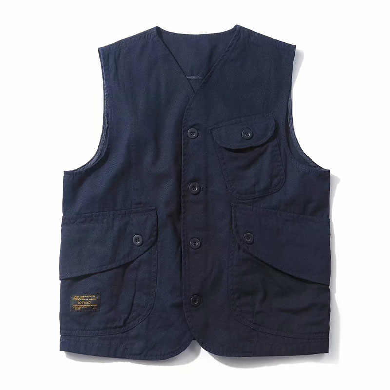 Mens Vests Male Pockets Waistcoats Single Breasted Autumn Spring Vest Shoulder Jacket Korean unloading Fashion Solid Color Coats