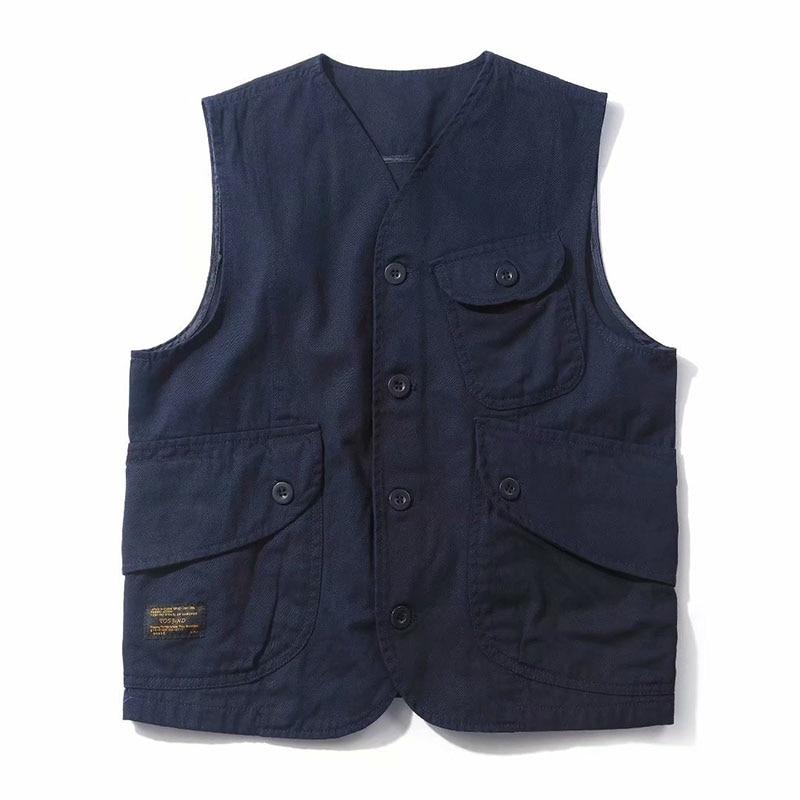 Mens Vests Male Pockets Waistcoats Single Breasted Autumn Spring Vest Shoulder Jacket Korean Unloading Fashion Solid Color Coats