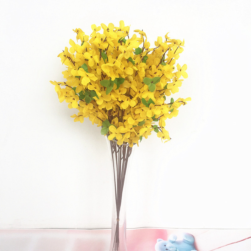 Moth Orchid Yellow Fake Flower For Wedding Party Home Decoration Marriage Simulated Flowers