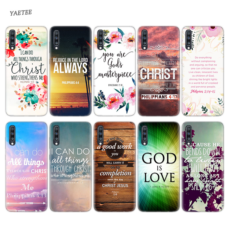 US $1 58 40% OFF|Bible verse Philippians Jesus Christ Case For Samsung  Galaxy S10 Plus M30 A50 A30 A70 A40 A40S M20 M10 A10 A20 A60 A80 A90  A20E-in