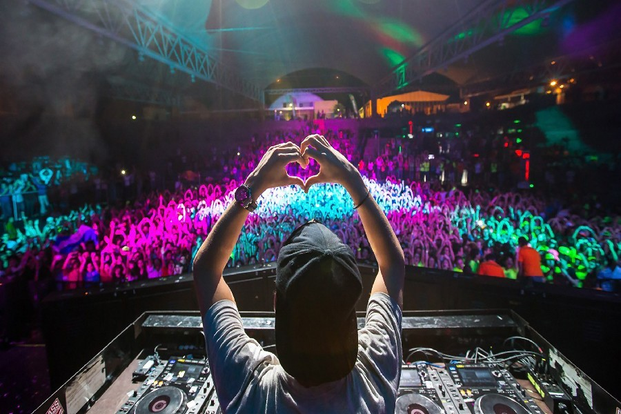 House dj avicii heart people music poster fabric cloth silk wall poster  print(China)