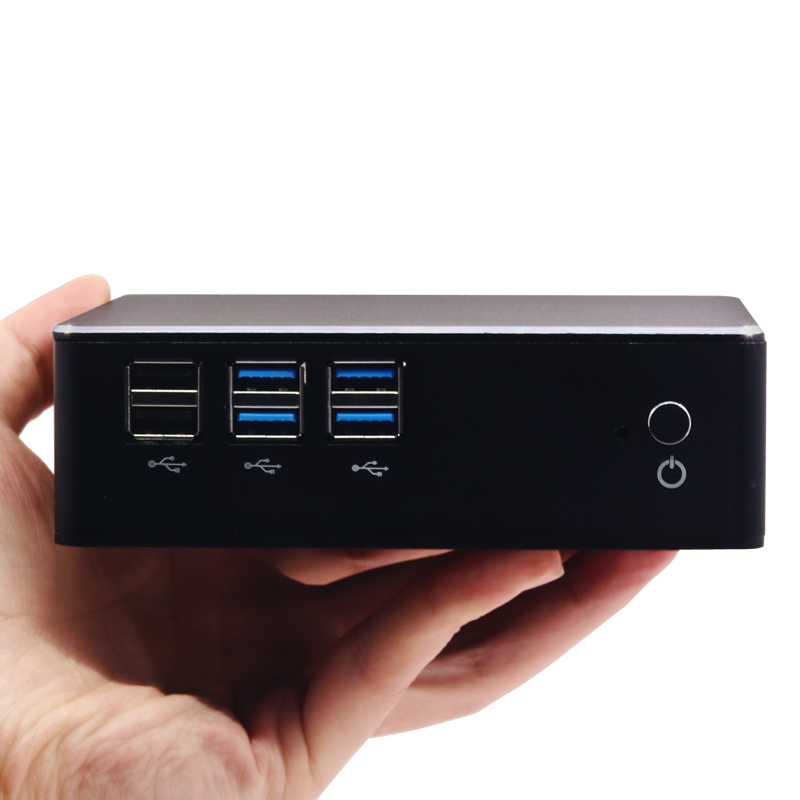 Windows 10 Mini PC ordinateur Intel Core i7 7500U i5 7200U i3 7100U 4 K prise en charge HDMI VGA 300 M WiFi Gigabit Ethernet Minipc NUC