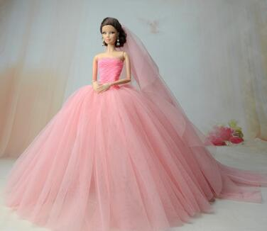 The New High-end  For Barbie Doll Clothes 1/6 Bjd Doll Dress Wedding Dress Princess A Variety Of Options