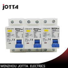 DPNL 1P+N 63A 230V~ 50HZ/60HZ Residual current Circuit breaker with over current and Leakage protection RCBO  - buy with discount