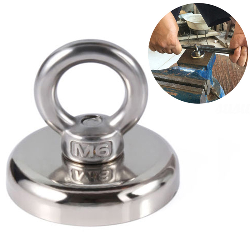 57/60/90KG High Quality Neodymium Recovery Magnet Metal Treasure Hunting Sea Fishing Detector 2019 New Silver Metal Accessories