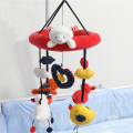 Bed Musical Bell Loving Reading Bear Baby Toys 0-12 months Rotating Hanging Plush Dolls Mobility in The Crib Kids Rattle WJ333