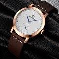 Vinoce original men quartz watch famosa marca homens de negócios relógio à prova d' água relógios relógio relógios de pulso de couro relojes masculino