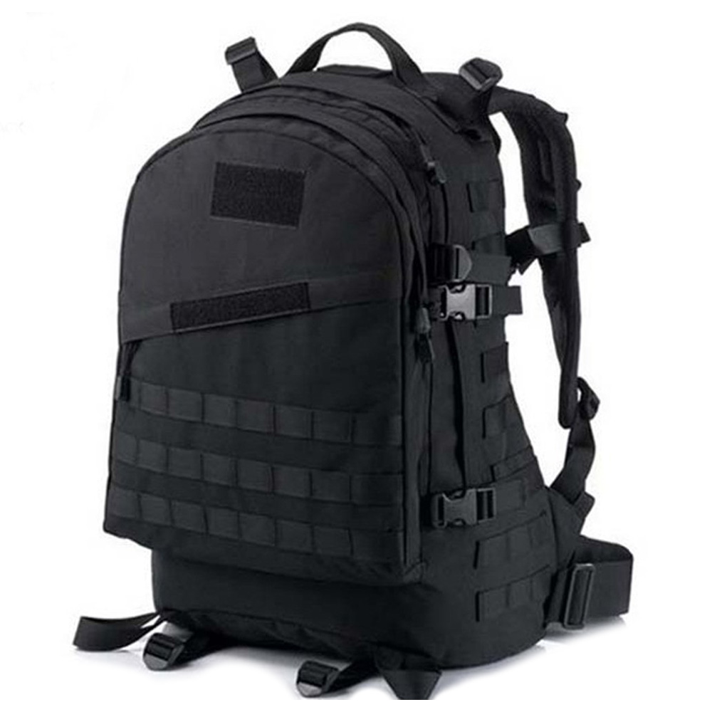 40L 600D Waterproof Oxford Cloth Military Backpack ACU Camouflage Travel Bag Travelling Bag Black