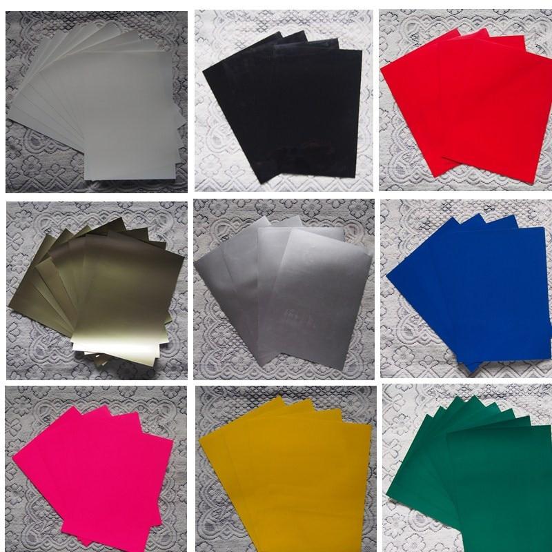 (A4*8sheets) PU Flex Vinyl Paper 8pcs/lot PU Heat Transfer Vinyl Premium Cuttable Pu Flex With Glue For T Shirts Clothes
