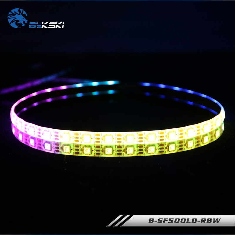 Bykski mobo AURA RGB Strips Symphony LED Chassis Light Bars RBW 5V 50CM 100CM For Computer Case Water Cooling  B-SF500LD-RBW