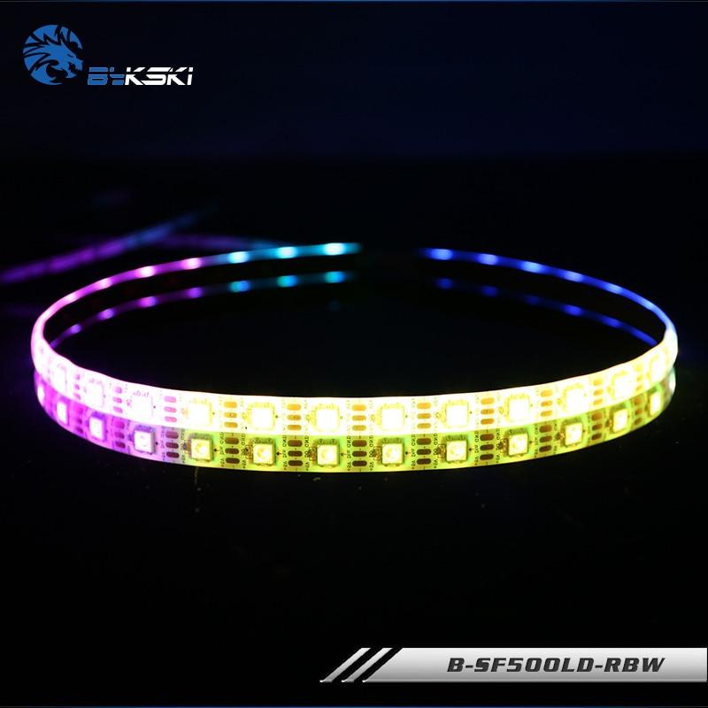Bykski mobo AURA RGB bandes symphonie LED châssis barres lumineuses RBW 5V 50CM 100CM pour coque dordinateur B-SF500LD-RBW de refroidissement à leau