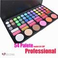 NEW Professional 54 Cores Da Paleta Da Sombra Brilho Maquiagem Paleta Sombra de Olho Conjunto Kit 54-2XP Atacado