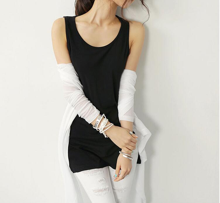 New Soild Color Slim Women Causal tank Tops Summer Sleeveless Cotton Tanks Tees For Woman Sexy Tops 3 Colors Vest in Tank Tops from Women 39 s Clothing