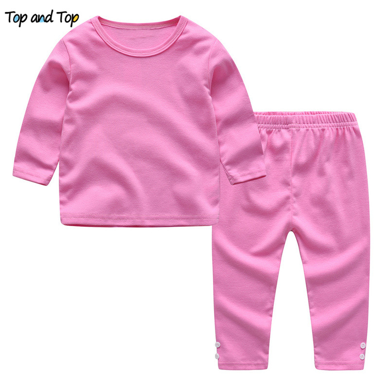 T-Shirt Tracksuit-Set Clothing-Set Baby-Girls Autumn Kids Winter Cotton Top And for 2pcs