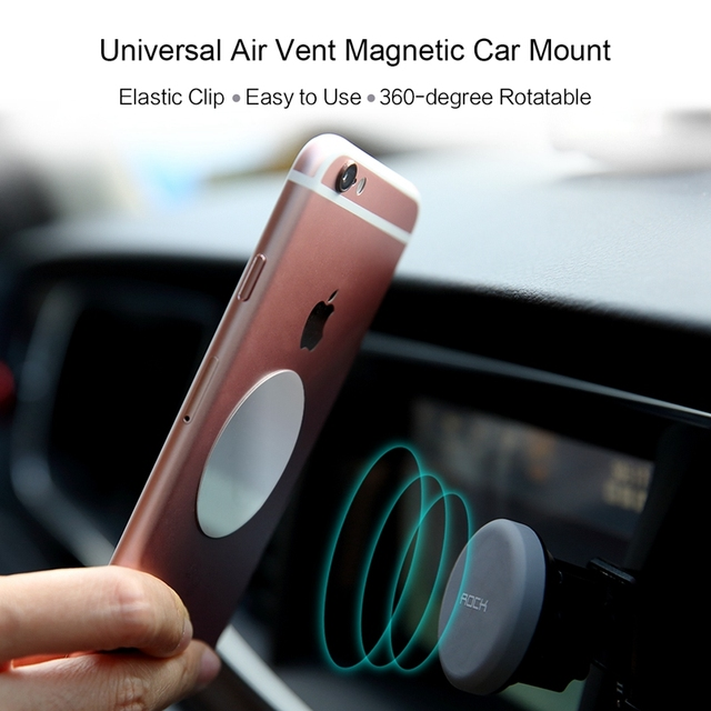 ROCK Magnetic Car Phone Holder Air Vent Outlet Rotatable Mount Magnet Phone Mobile Holder Universal For iphone Samsung stand