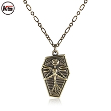 3 Colors Movie Nightmare Before Christmas Jack Surrounding Skull Necklace Pendant For Souvenirs Christmas Necklace
