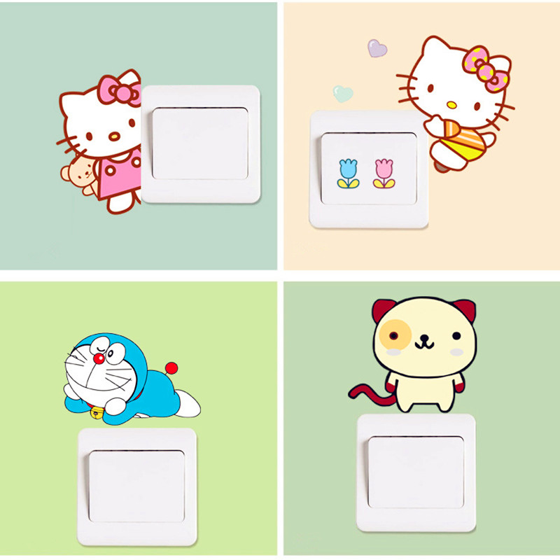 5Pcs/lot Removable Funny Cute Wall Stickers Home Decor ...
