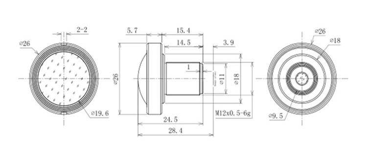 1.45mm Fisheye Lens