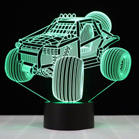 Novelty USB Colorful Visual 3D SUV Car Shape NightLight LED Table Lamp Touch Button Baby Sleep