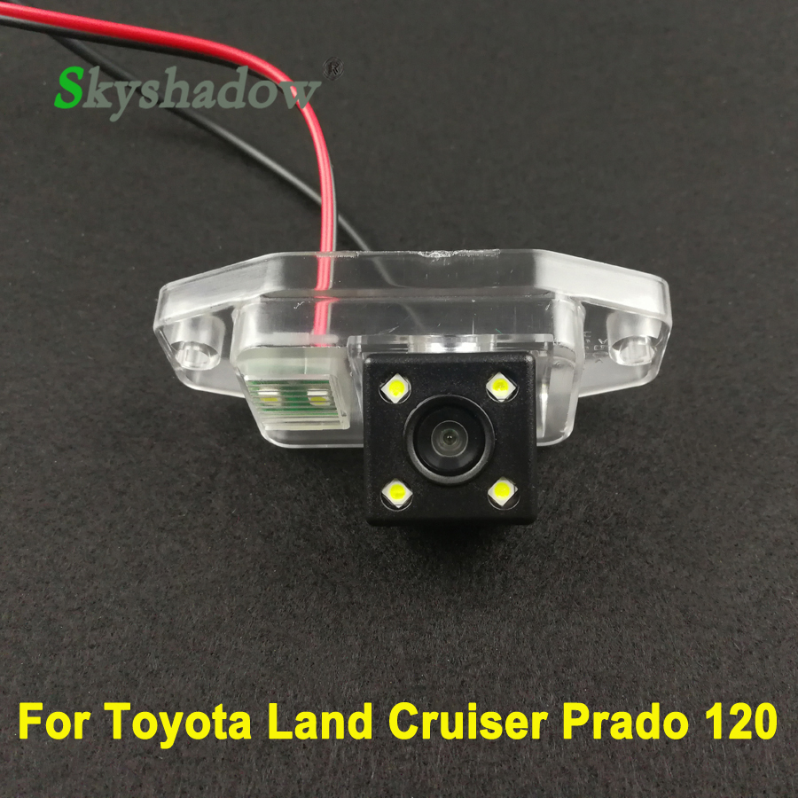 Attent Voor Toyota Land Cruiser Prado 2700 4000 120 Serie 2005 2006 2007 2008 2009 Auto Ccd Nachtzicht Backup Rear View Camera Parking Exquise (On) Vakmanschap