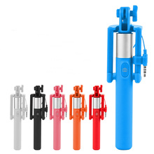 Hot selling Portable Extendable folding Handheld Monopod Mini Wired Selfie Stick for Iphone samsung Android Smartphone