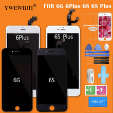 YWEWBJH 1PCS 100% New AAA LCD For iPhone 6 6S Plus  With 3D Touch Screen  Assembly Display No Dead Pixel Black White 1pcs no dead pixel with aaa quality white or black for iphone 5 display