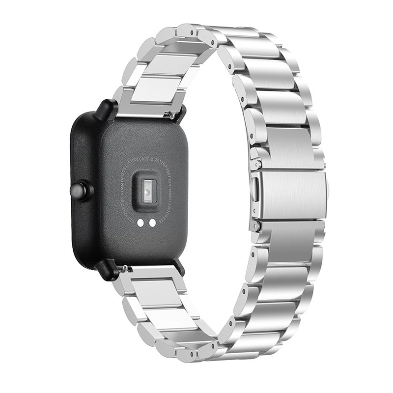 20mm stainless steel watchband for Samsung Galaxy Watch Active smart Strap band for Samsung Gear S2 Smart Watch Wristband in Watchbands from Watches