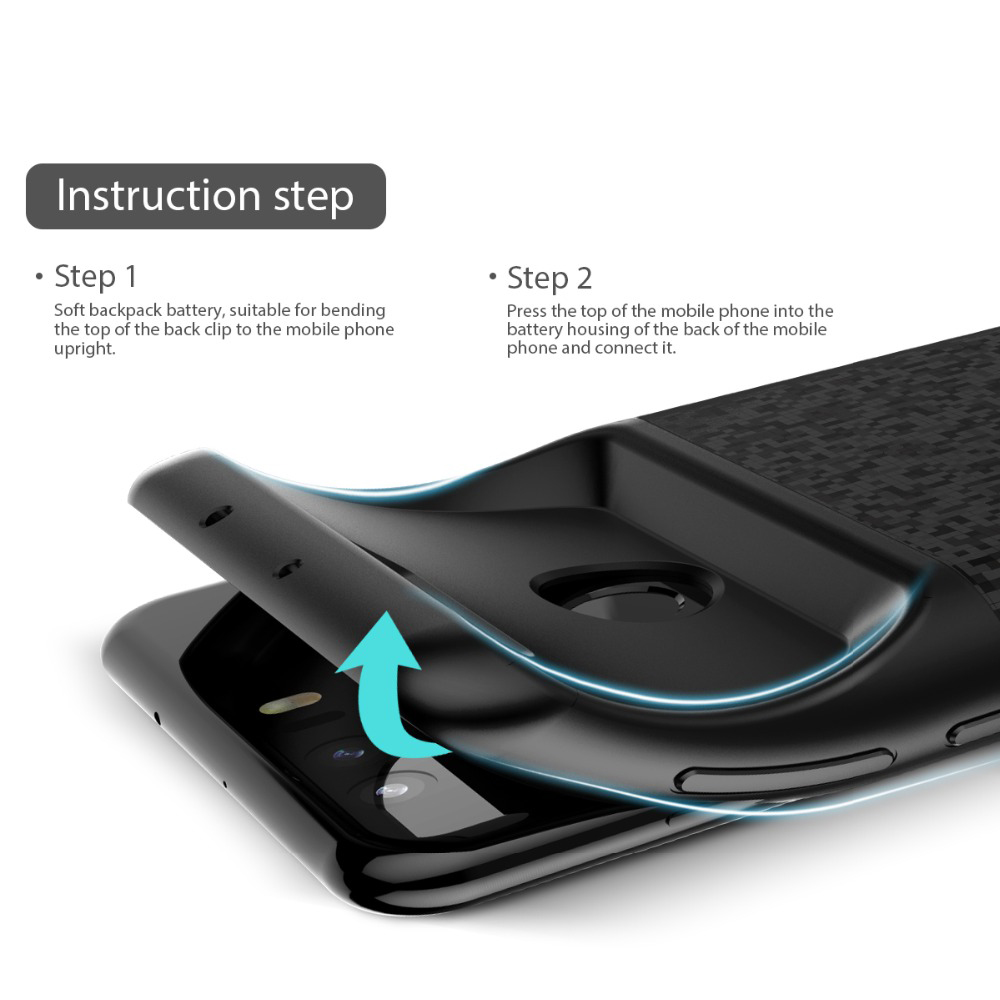 S7 Battery Charger Case For Samsung Galaxy S7 Silm Silicone shockproof power bank Case For Samsung S7 Edge Charger Back Cover