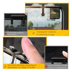 Image 5 - Baseus Handy Spiel Controller Für PUBG Gamepad Trigger Feuer Taste Ziel Schlüssel L1 R1 Shooter Joystick Für iPhone Android telefon