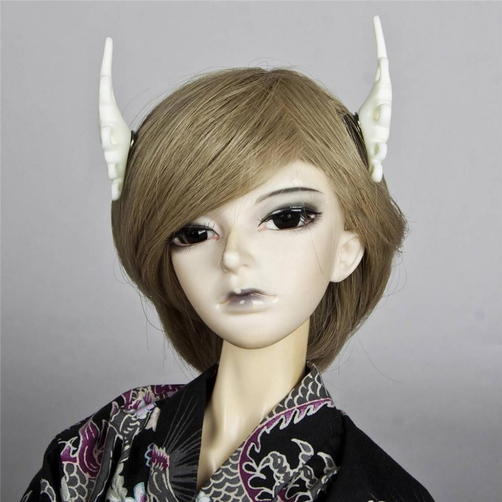 [wamami] 784# OOAK White Ear Horn For 1/3 SD 1/4 MSD DD AOD DOLL BJD Dollfie Accessories uncle 1 3 1 4 1 6 doll accessories for bjd sd bjd eyelashes for doll 1 pair tx 03
