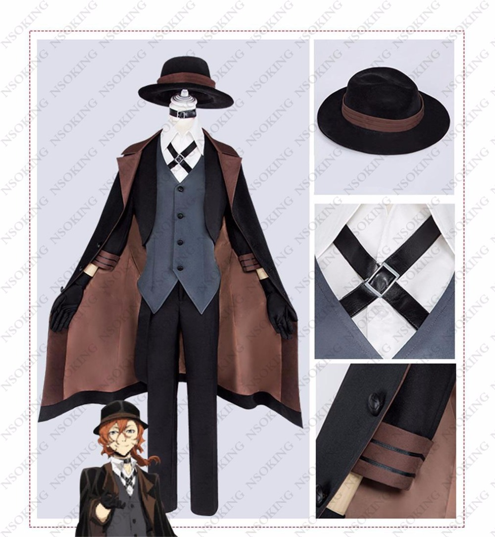 Custom-Made Bungo Bungou Stray Dogs Nakahara Chuya Cosplay Costume