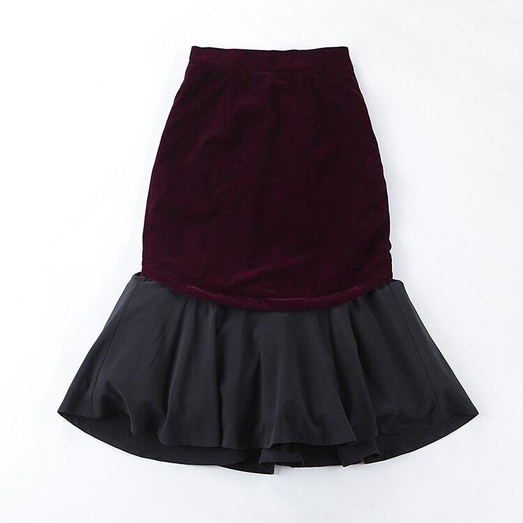 up Saia Sirène Jupe Pin Cru Velours Black Midi Wiggle Taille La Femmes Jupes Bandage Robe 20 Noir Bourgogne Palais Plus Falads le wPn0Ok
