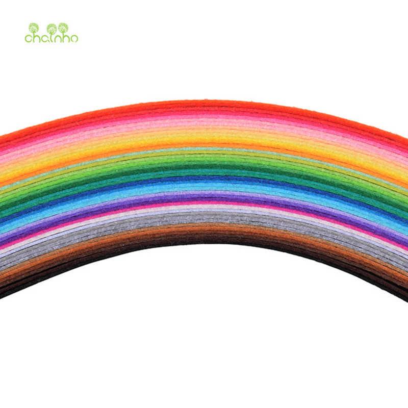 Chainho 1mm עובי הרגיש בד, לערבב 40 יח'\חבילה, פוליאסטר לא ארוג בד/עיצוב הבית לתפירה בובות & אמנות 20x20 cm/חתיכה