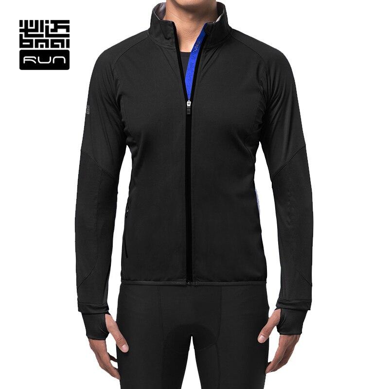 BMAI Man Winter Warm Running Jacket Outdoor Camping Sports Fitness Windproof Woman Clothing Wear Wind Coat Long Sleeve Jacket