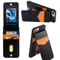 Mooshion marca phone holder case para iphone 7 luxo de couro de crédito cartão de bolso carteira bolsa capa para iphone 7 plus 6 s 6 mais
