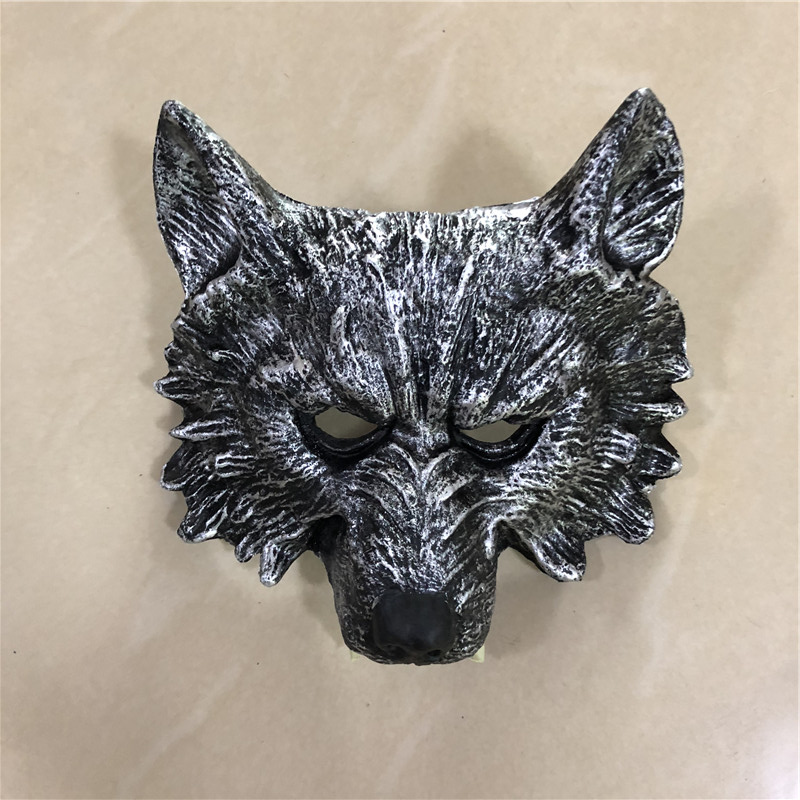 Big 1:1 Cosplay Mask Prop Fierce Beast Tooth Silver Wolf Mask Movie Game Anime Role Play Halloween Link Cos Kids Gift Safety PU
