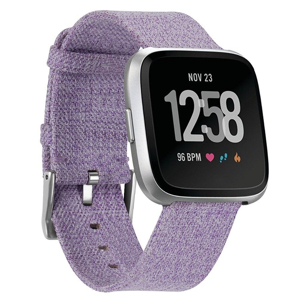 Toile de Bande De Montre Avec Boucle Connecteur Pour Fitbit versa Sport Smartband Professionnel Usine Prix Drop Shipping