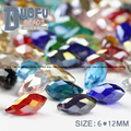 Briolette Pendant Waterdrop Austrian crystal beads 6*12mm 50pcs Top quality Teardrop glass beads for jewelry making bracelet DIY