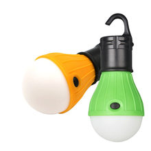 Mini Portable Camping Equipment Lantern Tent Light LED Bulb Emergency Lamp Waterproof Hanging Hook Flashlight(China)
