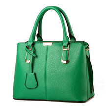 купить 2017 New Bags for Woman Concise Leisure Fashion Elegant Office Ladies Handbags Solid Color Pink Sky Blue Green Wine Red Tote Bag по цене 1583.29 рублей