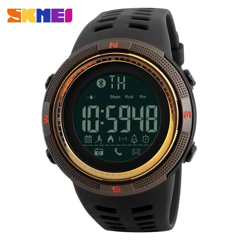SKMEI Smart Watches Men Clock Top Sport Men's Smart Watch Fashion Luxury APP Reminder Calorie Man Wrist Watch reloj hombre 1250