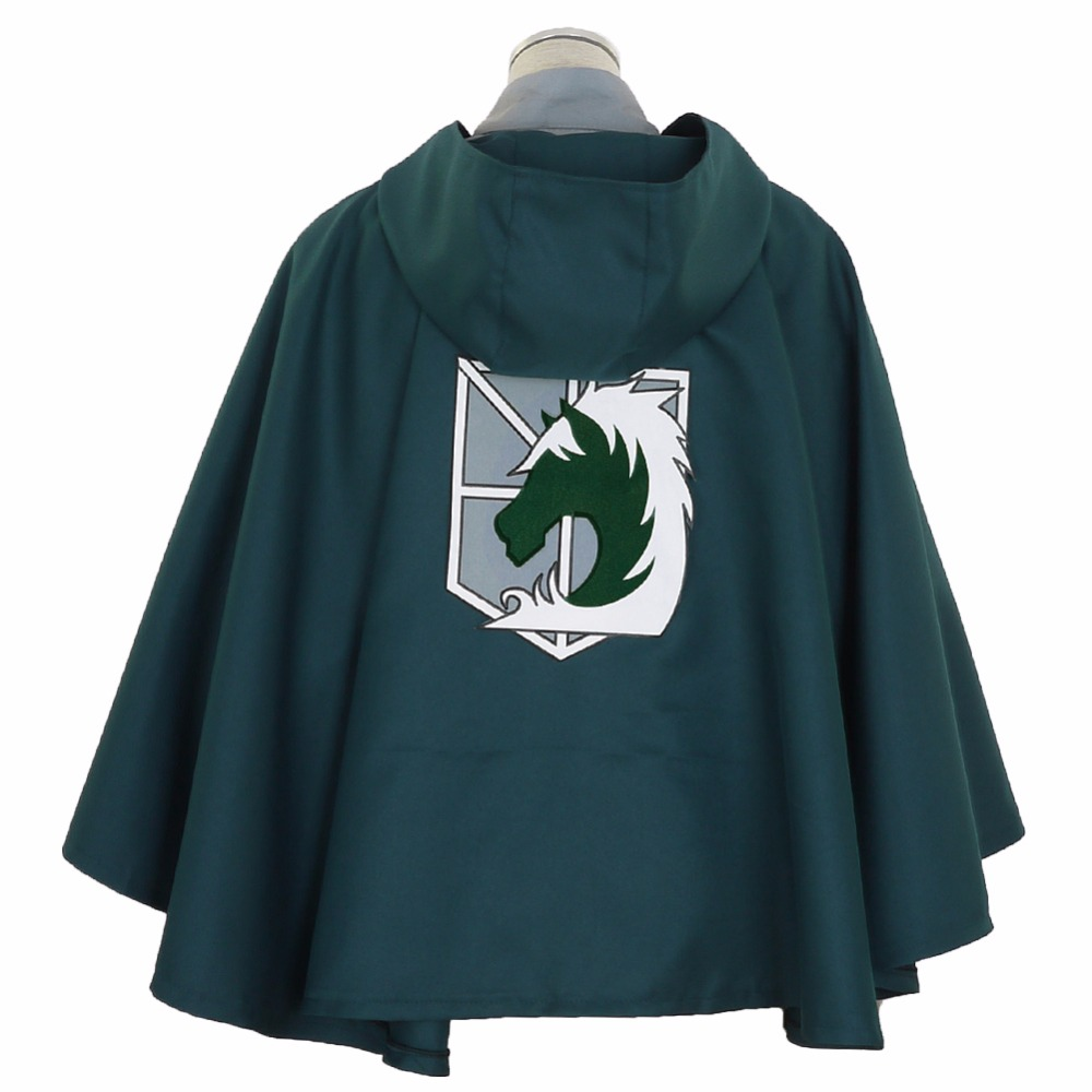 Halloween Attack on Titan Military Police Cape Robes Cloak Shingeki no Kyojin Eren Jaeger Cosplay Costume Game Anime Japanese