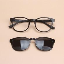 Vazrobe Tungsten Carbon Steel Magnetic Clip on Sunglasses Polarized Men Women Coating Mirror Myopia Sun Glasses with Frame