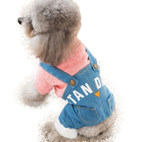 Autumn Winter Puppy Four legged Clothes Bichon Hiromi Distinguished Guest Teddy Puppy Clothing Pink Cowboy Bib Pant Pet Products