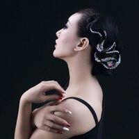 Hot Ballroom Latin Dance Dress Imitation Diamond Headwear Salsa Dance Accessories For Women Dance Headdress For Female DN1457