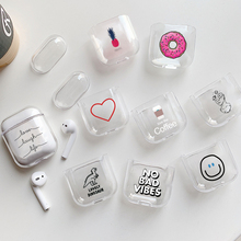 Case for airpods Cute Earphone For AirPods Cover Cartoon Wireless Accessories Apple Airpods Hard Bag
