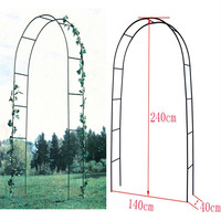 240CM/94 High x 140CM/55 Width Wedding Decoration Metal Arch Pergola In White / Dark Green Backdrop Stand